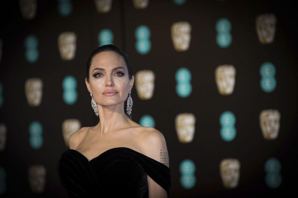 Amerykańska aktorka Angelina Jolie w Londynie