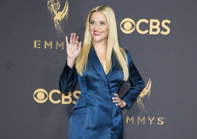 Amerykańska aktorka Reese Witherspoon na wręczeniu premii Emmy w Los Angeles