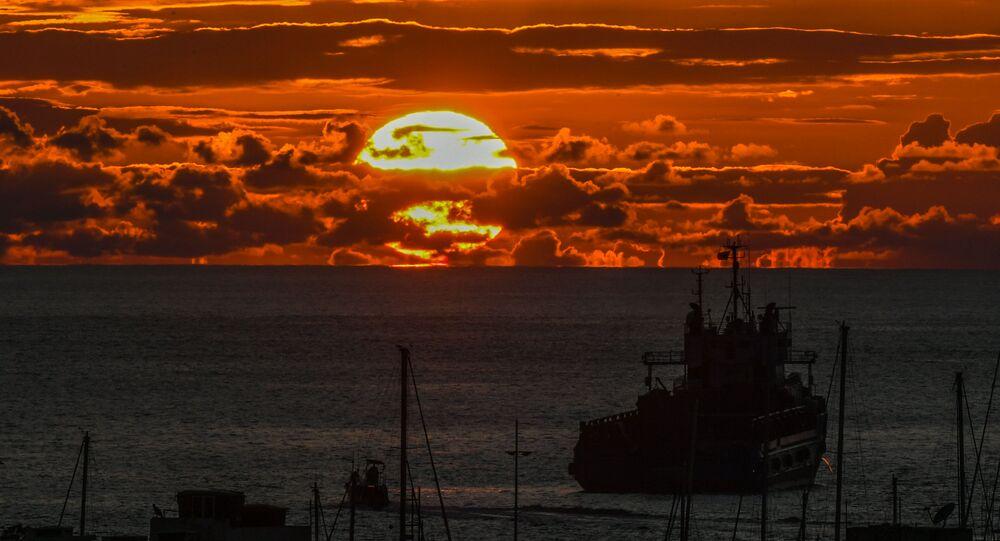 Zachód słońca w Santa Marta