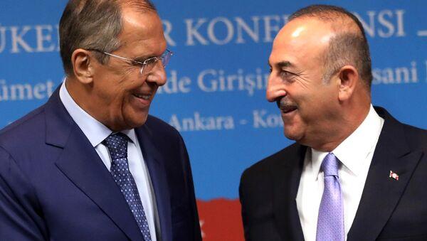 Spotkanie Siergieja Ławrowa z szefem tureckiej dyplomacji Mevlütem Çavuşoğlu - Sputnik Polska