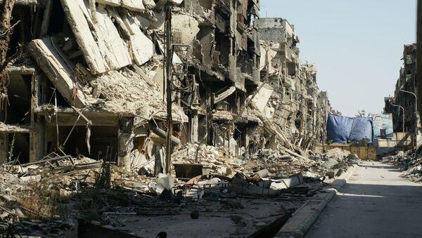 Zniszczenia w Damaszku, Syria - Sputnik Polska