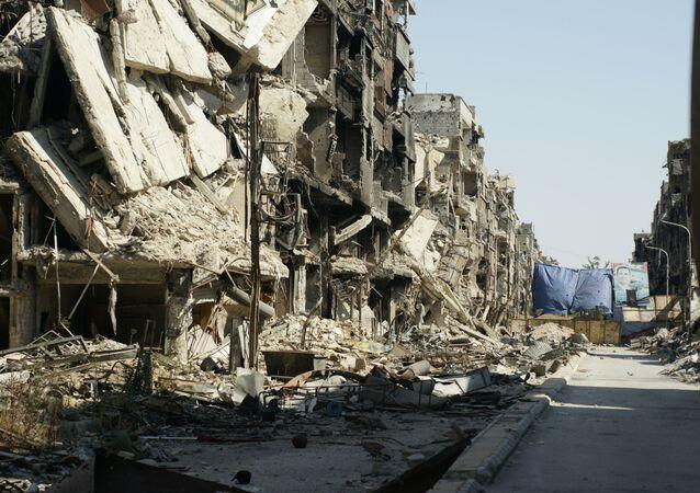 Zniszczenia w Damaszku, Syria