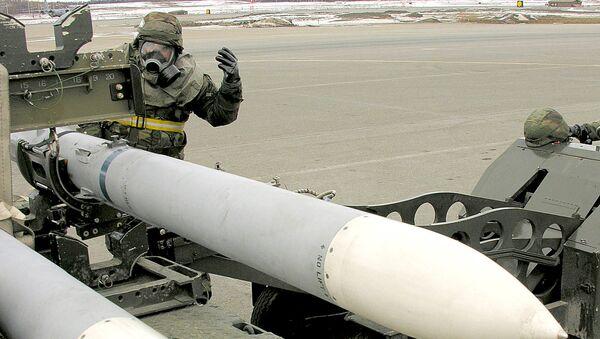 Bojowe rakiety klasy powietrze-powietrze AIM-120 AMRAAM - Sputnik Polska