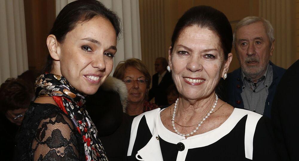 Irina Strozzi z córką Natalią
