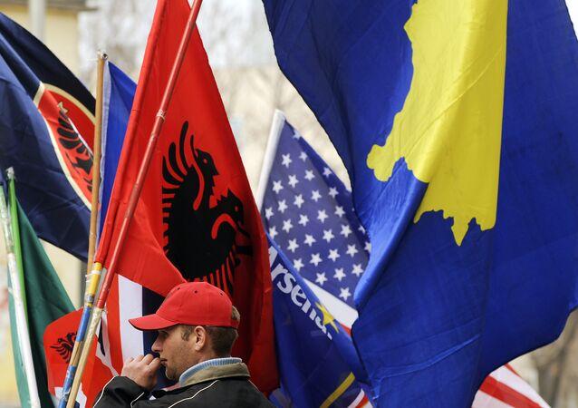 Sprzedawca flag, Prisztina