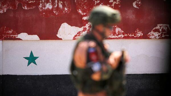 Rosyjski żołnierz w syryjskim Homs - Sputnik Polska