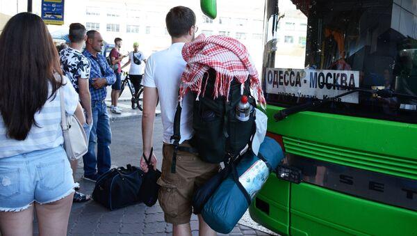 Autobus Odessa-Moskwa i pasażerowie - Sputnik Polska