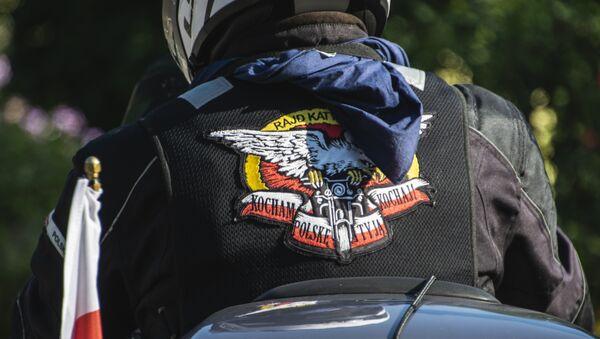 Jeden z uczestników XVIII Międzynarodowego Motocyklowego Rajdu Katyńskiego - Sputnik Polska