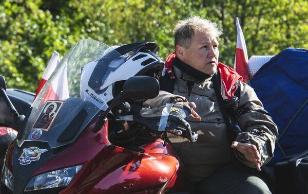 Szefowa XVIII rajdu, wiceprezes zarządu Stowarzyszenia Międzynarodowego Motocyklowego Rajdu Katyńskiego Katarzyna Wróblewska - Sputnik Polska