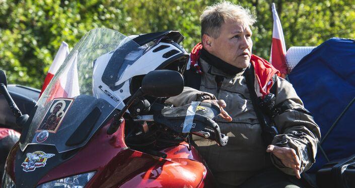 Szefowa XVIII rajdu, wiceprezes zarządu Stowarzyszenia Międzynarodowego Motocyklowego Rajdu Katyńskiego Katarzyna Wróblewska