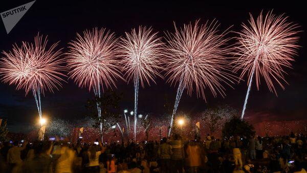 Międzynarodowy Festiwal fajerwerków Rostech - Sputnik Polska