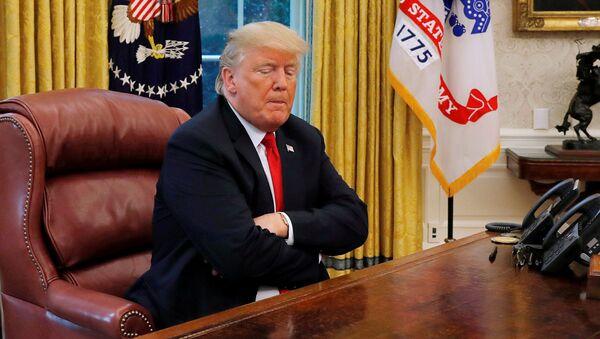 Prezydent Stanów Zjednoczonych Donald Trump podczas wywiadu dla agencji Reuters - Sputnik Polska
