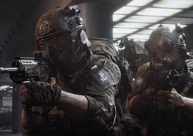 Plakat do gry komputerowej World War 3 od polskiego studia The Farm 51