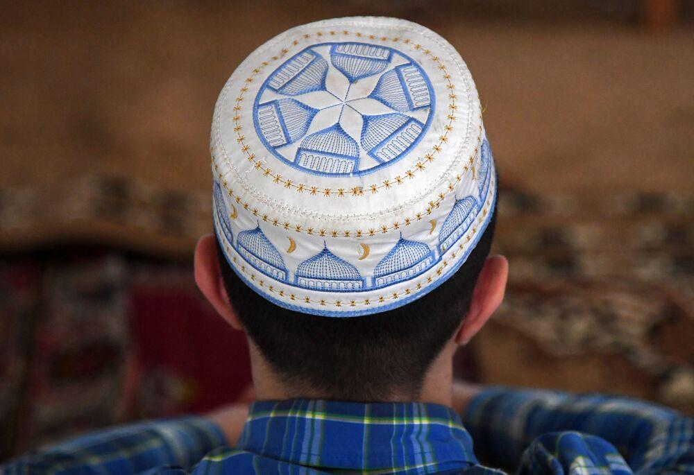 Muzułmanin. Meczet Piątkowy w Eupatorii