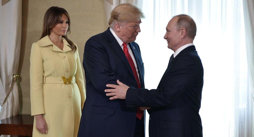 Władimir Putin, Donald Trump i Melania Trump