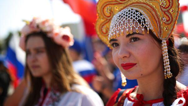 W Krasnodarze świętują Dzień Flagi Państwowej w Rosji - Sputnik Polska