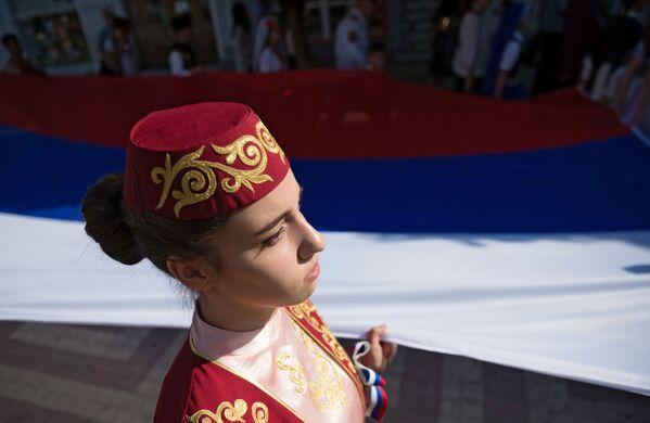 Obchody Dnia Flagi Państwowej w Rosji - Sputnik Polska