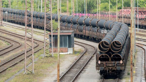 Rury do gazociągu Nord Stream 2 - Sputnik Polska