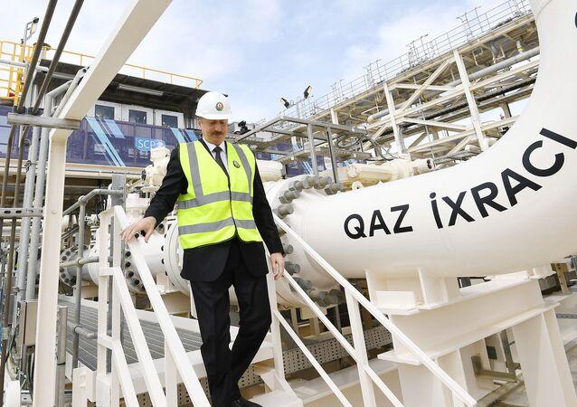 Prezydent Azerbejdanu Ilham Alijew na otwarciu Południowego Korytarza Gazowego