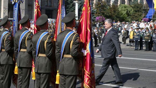 Poroszenko na Defiladzie w Dzień Niepodległości Ukrainy - Sputnik Polska