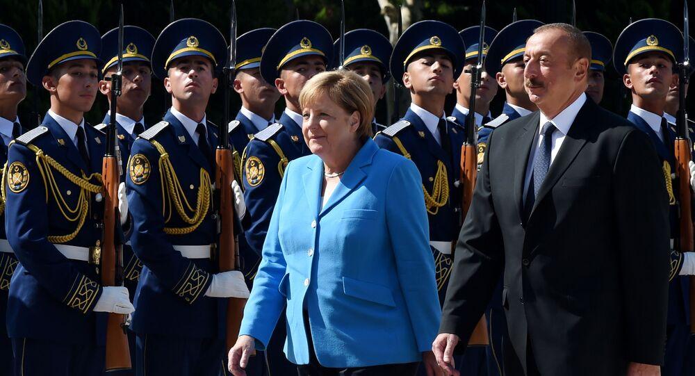 Angela Merkel i Ilham Alijew