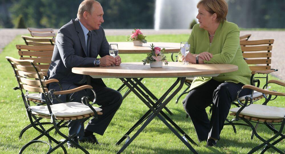 Spotkanie Władimira Putina i Angeli Merkel w Berlinie