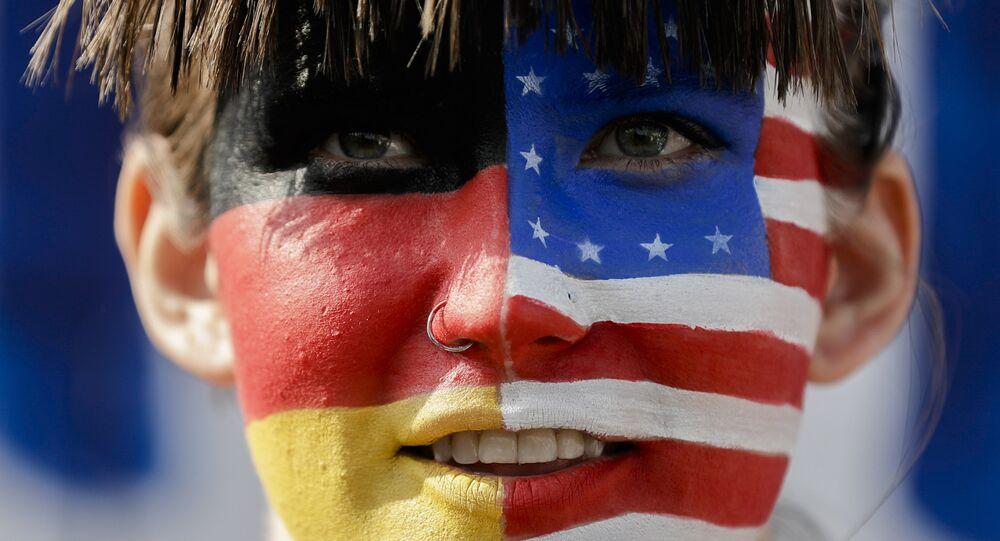 Flagi USA i Niemiec