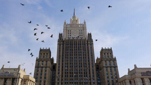 Budynek Ministerstwa Spraw Zagranicznych Federacji Rosyjskiej w Moskwie - Sputnik Polska