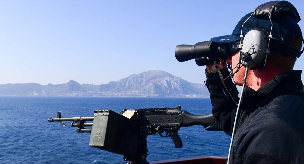 Amerykański okręt na Morzu Śródziemnym