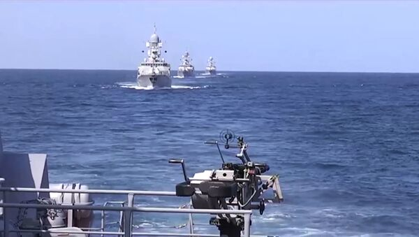 Rosyjskie okręty wojenne u wybrzeży Syrii - Sputnik Polska