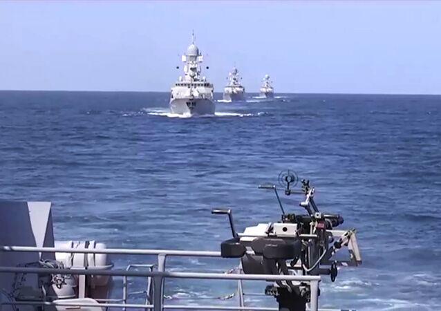 Rosyjskie okręty wojenne u wybrzeży Syrii