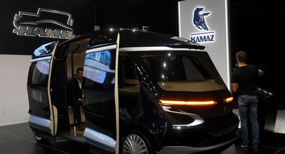 Elektryczny autobus KamAZ na Międzynarodowym Salonie Samochodowym w Moskwie