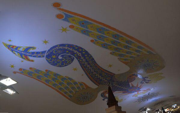 Fresk zdobiący przedsionek stacji metra w Kazaniu - Sputnik Polska