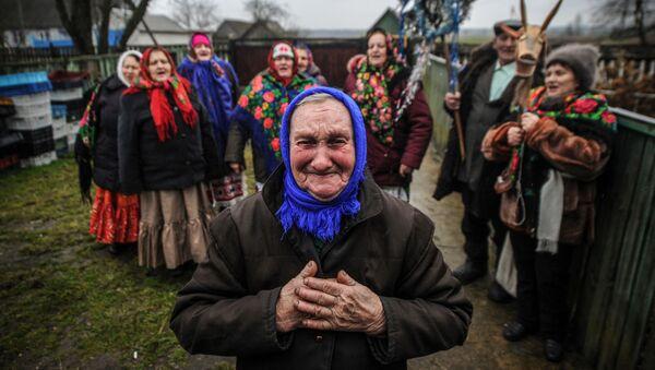 Mieszkańcy Bukczy na Białorusi - Sputnik Polska