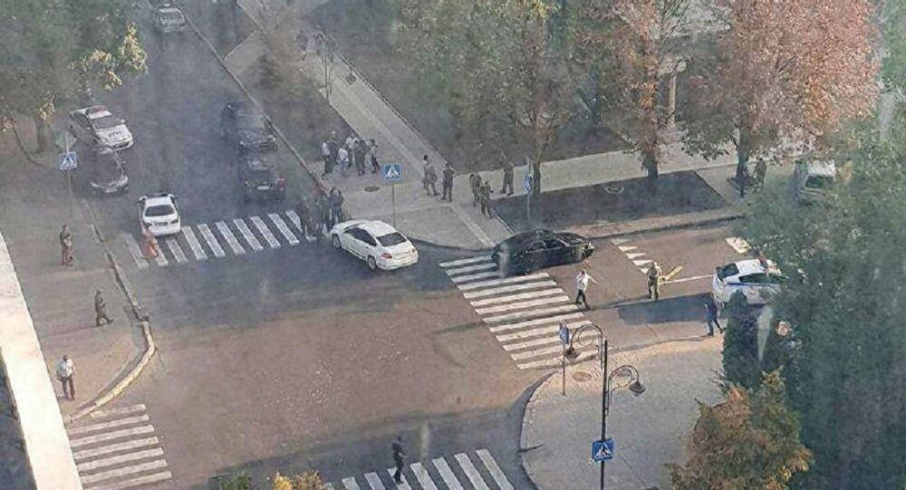Miejsce eksplozji w Doniecku