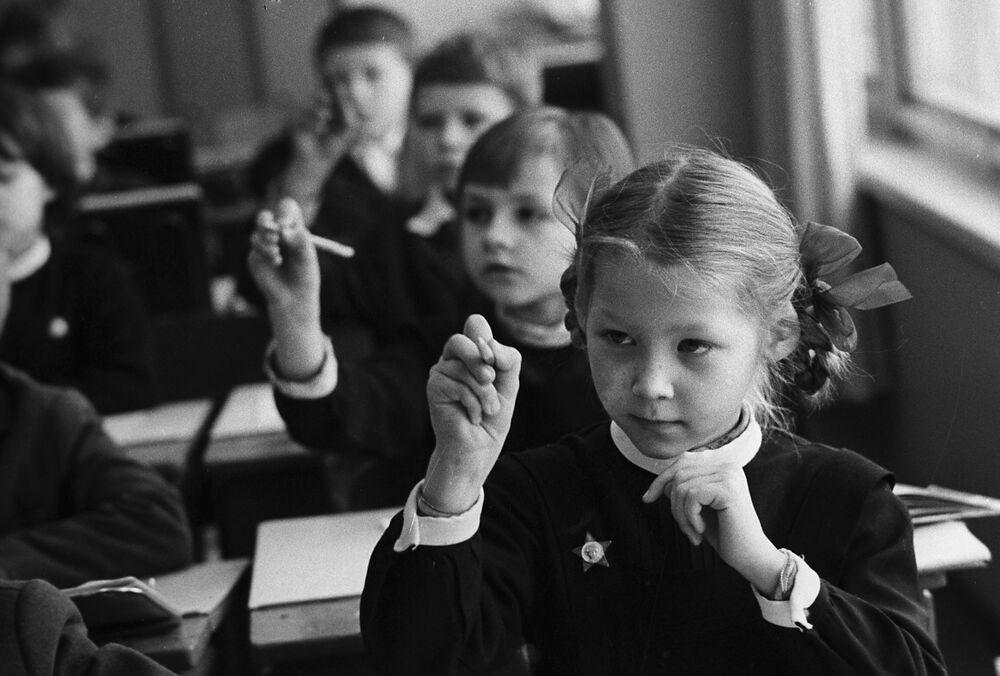 Pierwszoklasiści. Moskwa, 1974 rok