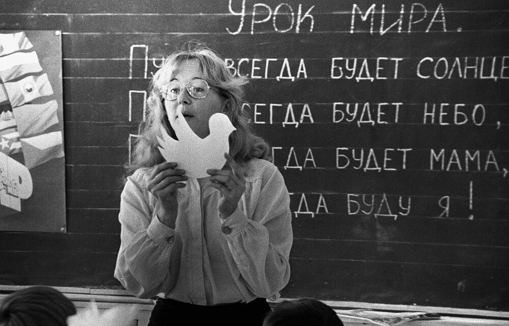 1 września w szkole nr. 39 w Irkutsku, 1986 rok
