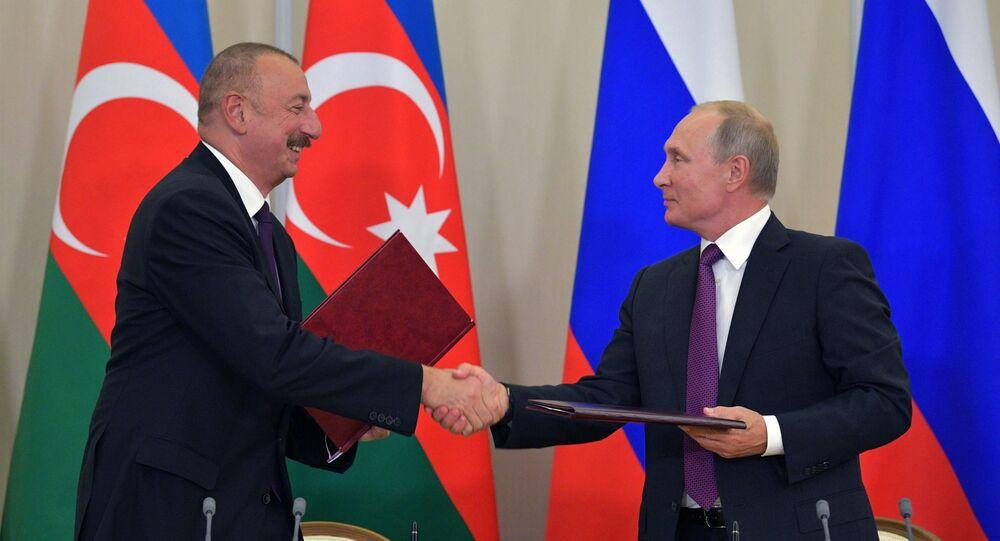 Ilham Alijew i Władimir Putin