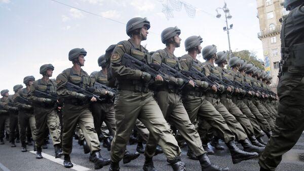 Ukraińscy żołnierze w Kijowie - Sputnik Polska