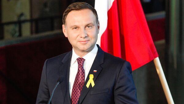 Prezydent Polski Andrzej Duda podczas pierwszej wizyty zagranicznej - Sputnik Polska