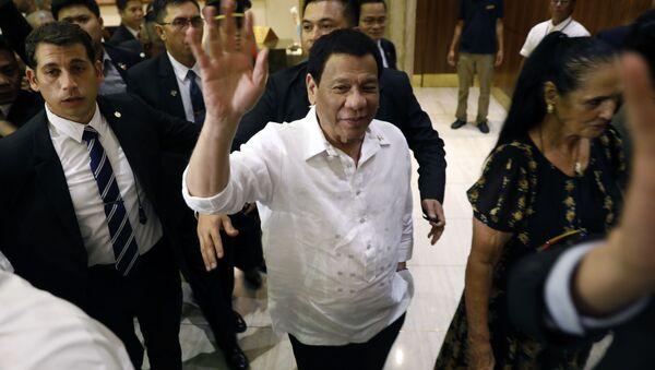 Prezydent Filipin Rodrigo Duterte w czasie wizyty w Izraelu - Sputnik Polska