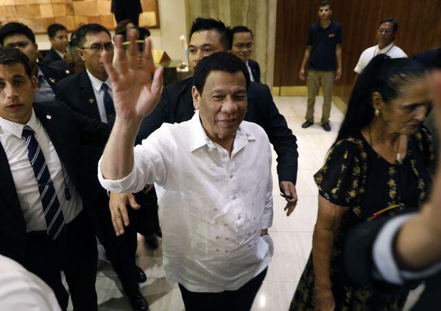 Prezydent Filipin Rodrigo Duterte w czasie wizyty w Izraelu