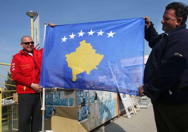 Flaga Kosowa