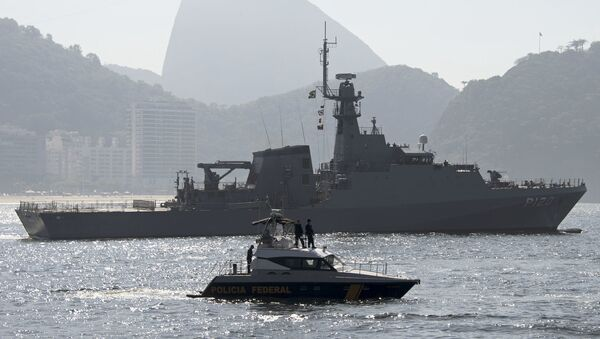 Okręty marynarki wojennej Brazylii w Rio de Janeiro - Sputnik Polska