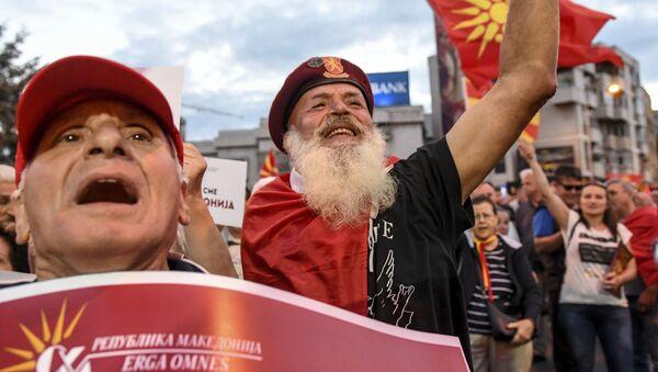 Protesty w Skopje - Sputnik Polska