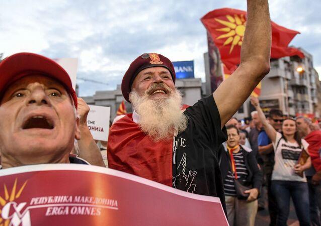 Protesty w Skopje