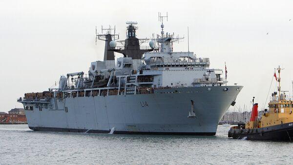 Okręt desantowy marynarki wojennej Wielkiej Brytanii HMS Albion - Sputnik Polska