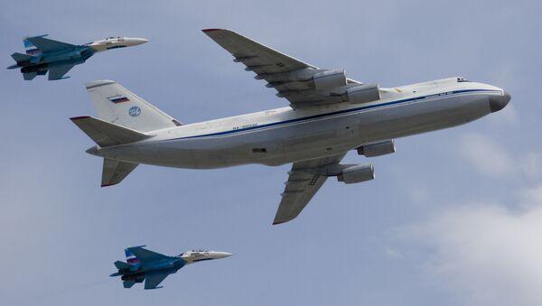 """Strategiczny samolot wojskowo-transportowy An-124 """"Rusłan"""" - Sputnik Polska"""