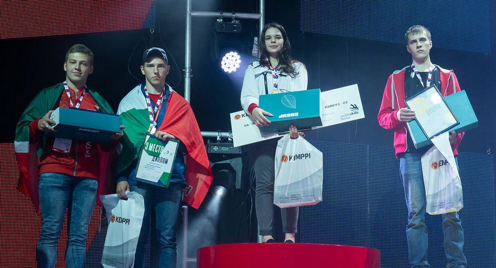 Diana Bagautdinowa, zwyciężczyni VI Narodowych Mistrzostw WorldSkillsRussia