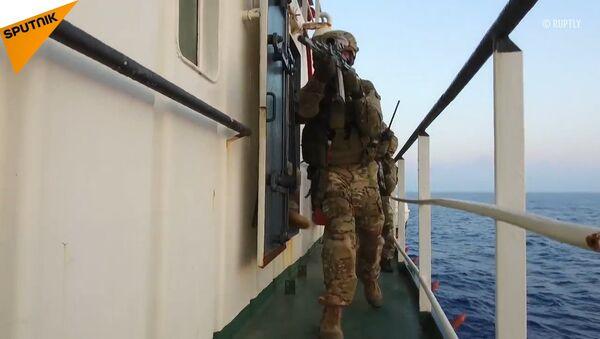 Na Morzu Śródziemnym rosyjskie siły specjalne zneutralizowały «sabotażystów» - Sputnik Polska